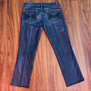 7 For All Mankind Jeans - 7FAM Collette Raw Hem Jeans Size 31